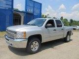 2013 Silver Ice Metallic Chevrolet Silverado 1500 LT Crew Cab 4x4 #68093319