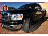 2007 Brilliant Black Crystal Pearl Dodge Ram 1500 Lone Star Edition Quad Cab #6795699