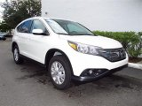 White Diamond Pearl Honda CR-V in 2012
