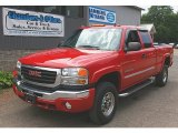 2006 Fire Red GMC Sierra 2500HD SLT Extended Cab 4x4 #68093505