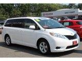 2011 Super White Toyota Sienna LE #68093425