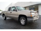 2003 Light Pewter Metallic Chevrolet Silverado 1500 LS Extended Cab 4x4 #68152575