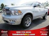 2012 Bright White Dodge Ram 1500 Laramie Crew Cab 4x4 #68152559