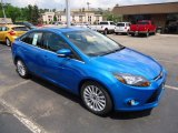 2012 Blue Candy Metallic Ford Focus Titanium Sedan #68152486