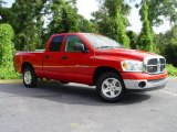 2007 Flame Red Dodge Ram 1500 SLT Quad Cab #545561