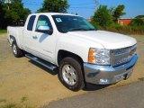 2012 Summit White Chevrolet Silverado 1500 LT Extended Cab 4x4 #68152923