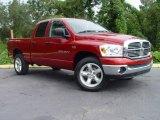 2007 Inferno Red Crystal Pearl Dodge Ram 1500 ST Quad Cab 4x4 #545556