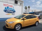 2012 Yellow Blaze Tricoat Metallic Ford Focus SE Sport 5-Door #68152390