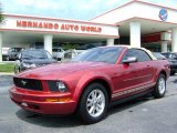 2007 Redfire Metallic Ford Mustang V6 Deluxe Convertible #6791915