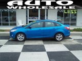 2012 Blue Candy Metallic Ford Focus SE Sport Sedan #68152751