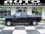 2012 Black Dodge Ram 1500 SLT Quad Cab 4x4 #68152746