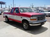 Vermillion Red Ford F150 in 1995
