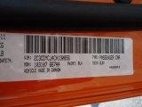 2012 Challenger Color Code for Header Orange - Color Code: PL4