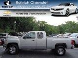 2013 Silver Ice Metallic Chevrolet Silverado 1500 LS Extended Cab 4x4 #68223952