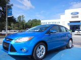 2012 Blue Candy Metallic Ford Focus SEL 5-Door #68223322