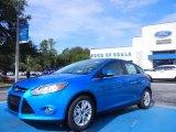 2012 Blue Candy Metallic Ford Focus SEL 5-Door #68223321