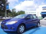 2012 Sonic Blue Metallic Ford Focus S Sedan #68223320