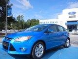 2012 Sonic Blue Metallic Ford Focus S Sedan #68223319