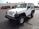 2012 Bright White Jeep Wrangler Sport 4x4 #68223574