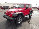 2012 Flame Red Jeep Wrangler Rubicon 4X4 #68223573