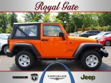 2012 Crush Orange Jeep Wrangler Sport 4x4 #68223212