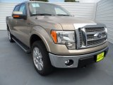 2012 Pale Adobe Metallic Ford F150 Lariat SuperCrew 4x4 #68223466