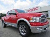 2012 Flame Red Dodge Ram 1500 Laramie Crew Cab 4x4 #68223451