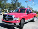2005 Flame Red Dodge Ram 1500 SLT Quad Cab #544549