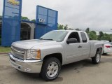 2013 Silver Ice Metallic Chevrolet Silverado 1500 LT Extended Cab 4x4 #68283040
