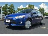 2012 Blue Candy Metallic Ford Focus SE Sedan #68283292