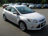 2012 White Platinum Tricoat Metallic Ford Focus SEL Sedan #68283594
