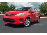 2013 Race Red Ford Fiesta SE Sedan #68283288