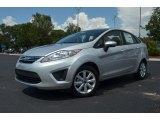 2013 Ingot Silver Ford Fiesta SE Sedan #68283283