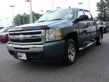 2009 Blue Granite Metallic Chevrolet Silverado 1500 LS Crew Cab #68282993