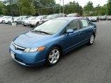 2007 Atomic Blue Metallic Honda Civic EX Sedan #68283569