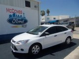 2012 Oxford White Ford Focus S Sedan #68361683