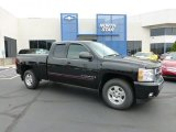 2007 Black Chevrolet Silverado 1500 LT Z71 Extended Cab 4x4 #68367107
