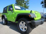 2012 Jeep Wrangler Gecko Green