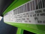 2012 Wrangler Color Code for Gecko Green - Color Code: PFM