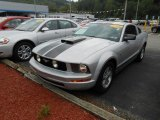 2007 Satin Silver Metallic Ford Mustang V6 Deluxe Coupe #68366949