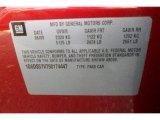 2009 Cadillac CTS 4 AWD Sedan Info Tag