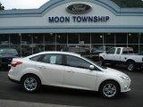 2012 White Platinum Tricoat Metallic Ford Focus SEL Sedan #68367119