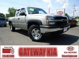 2003 Light Pewter Metallic Chevrolet Silverado 1500 LS Extended Cab 4x4 #68407061