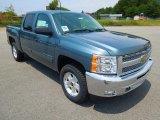 2012 Blue Granite Metallic Chevrolet Silverado 1500 LT Crew Cab 4x4 #68406841