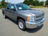 2013 Graystone Metallic Chevrolet Silverado 1500 LT Crew Cab 4x4 #68406839