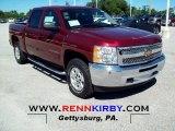 2013 Deep Ruby Metallic Chevrolet Silverado 1500 LT Crew Cab 4x4 #68469342