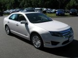 2010 White Platinum Tri-coat Metallic Ford Fusion Hybrid #68469616