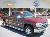 2001 Dark Carmine Red Metallic Chevrolet Silverado 1500 LT Extended Cab 4x4 #68469414
