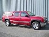 2005 Sport Red Metallic Chevrolet Silverado 1500 Z71 Crew Cab 4x4 #6833867