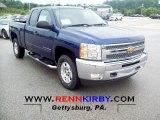 2013 Blue Topaz Metallic Chevrolet Silverado 1500 LT Extended Cab 4x4 #68523269